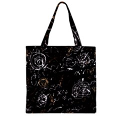 Abstract mind - brown Zipper Grocery Tote Bag