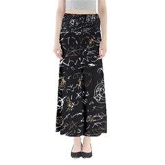 Abstract mind - brown Maxi Skirts