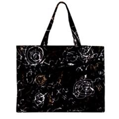 Abstract mind - brown Medium Zipper Tote Bag