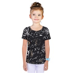 Abstract mind - brown Kids  One Piece Tee