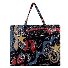Confusion Zipper Large Tote Bag