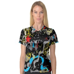 Confusion 2 Women s V-Neck Sport Mesh Tee