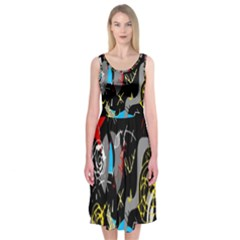 Confusion 2 Midi Sleeveless Dress