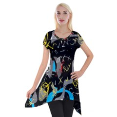 Confusion 2 Short Sleeve Side Drop Tunic