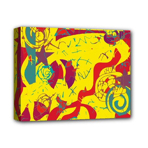 Yellow confusion Deluxe Canvas 14  x 11