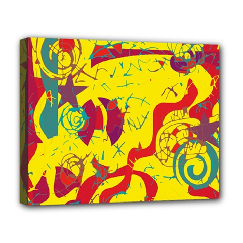 Yellow confusion Deluxe Canvas 20  x 16