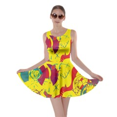 Yellow confusion Skater Dress
