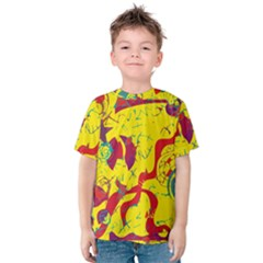 Yellow confusion Kids  Cotton Tee