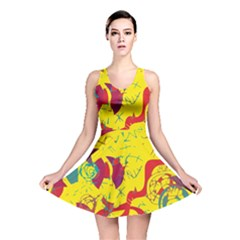 Yellow confusion Reversible Skater Dress