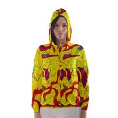 Yellow confusion Hooded Wind Breaker (Women)