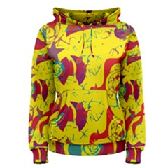 Yellow confusion Women s Pullover Hoodie