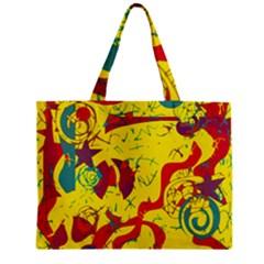 Yellow confusion Zipper Mini Tote Bag