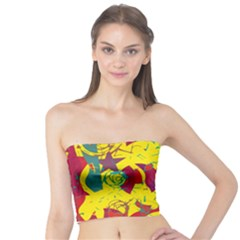 Yellow confusion Tube Top