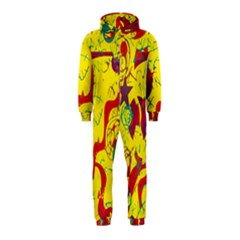 Yellow confusion Hooded Jumpsuit (Kids)