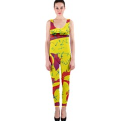 Yellow confusion OnePiece Catsuit