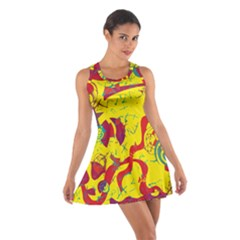 Yellow confusion Cotton Racerback Dress