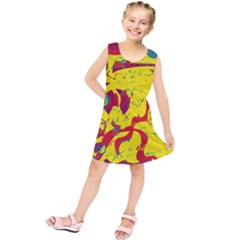 Yellow Confusion Kids  Tunic Dress