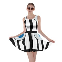Blue eye zebra Skater Dress
