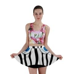 Blue eye zebra Mini Skirt