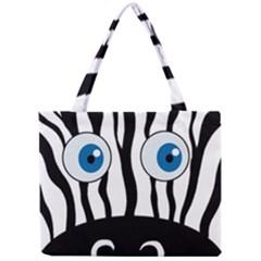 Blue eye zebra Mini Tote Bag