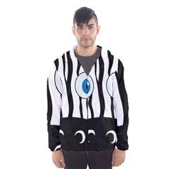 Blue eye zebra Hooded Wind Breaker (Men)