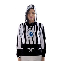 Blue eye zebra Hooded Wind Breaker (Women)