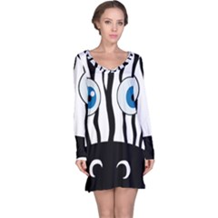 Blue eye zebra Long Sleeve Nightdress