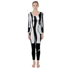 Blue eye zebra Long Sleeve Catsuit