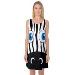Blue eye zebra Sleeveless Satin Nightdress