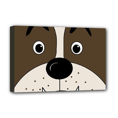 Bulldog face Deluxe Canvas 18  x 12