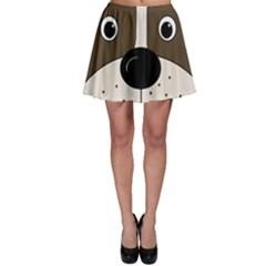 Bulldog face Skater Skirt