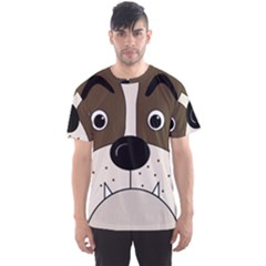 Bulldog face Men s Sport Mesh Tee