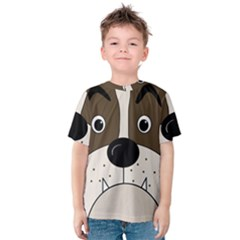 Bulldog face Kids  Cotton Tee