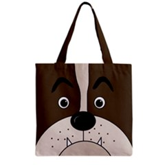 Bulldog face Grocery Tote Bag