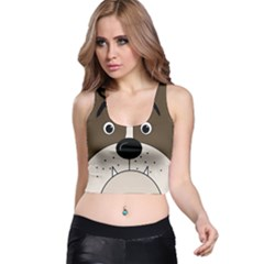 Bulldog face Racer Back Crop Top