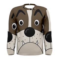 Bulldog face Men s Long Sleeve Tee