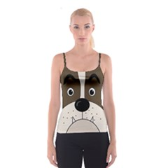 Bulldog face Spaghetti Strap Top