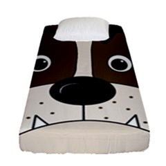 Bulldog face Fitted Sheet (Single Size)