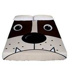 Bulldog face Fitted Sheet (Queen Size)