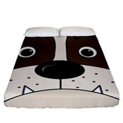 Bulldog face Fitted Sheet (King Size)