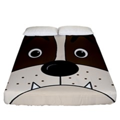 Bulldog face Fitted Sheet (California King Size)