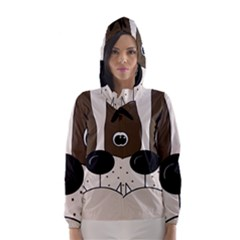 Bulldog face Hooded Wind Breaker (Women)