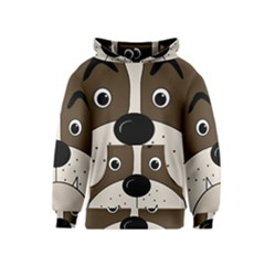 Bulldog face Kids  Pullover Hoodie