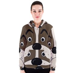 Bulldog face Women s Zipper Hoodie