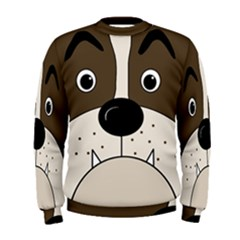 Bulldog face Men s Sweatshirt