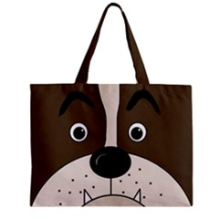 Bulldog face Zipper Mini Tote Bag