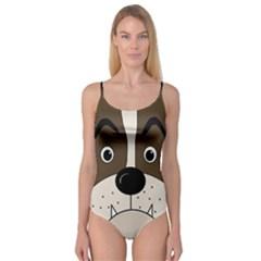 Bulldog face Camisole Leotard