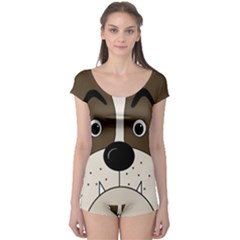 Bulldog face Boyleg Leotard
