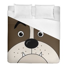 Bulldog face Duvet Cover (Full/ Double Size)