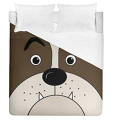 Bulldog face Duvet Cover (Queen Size)